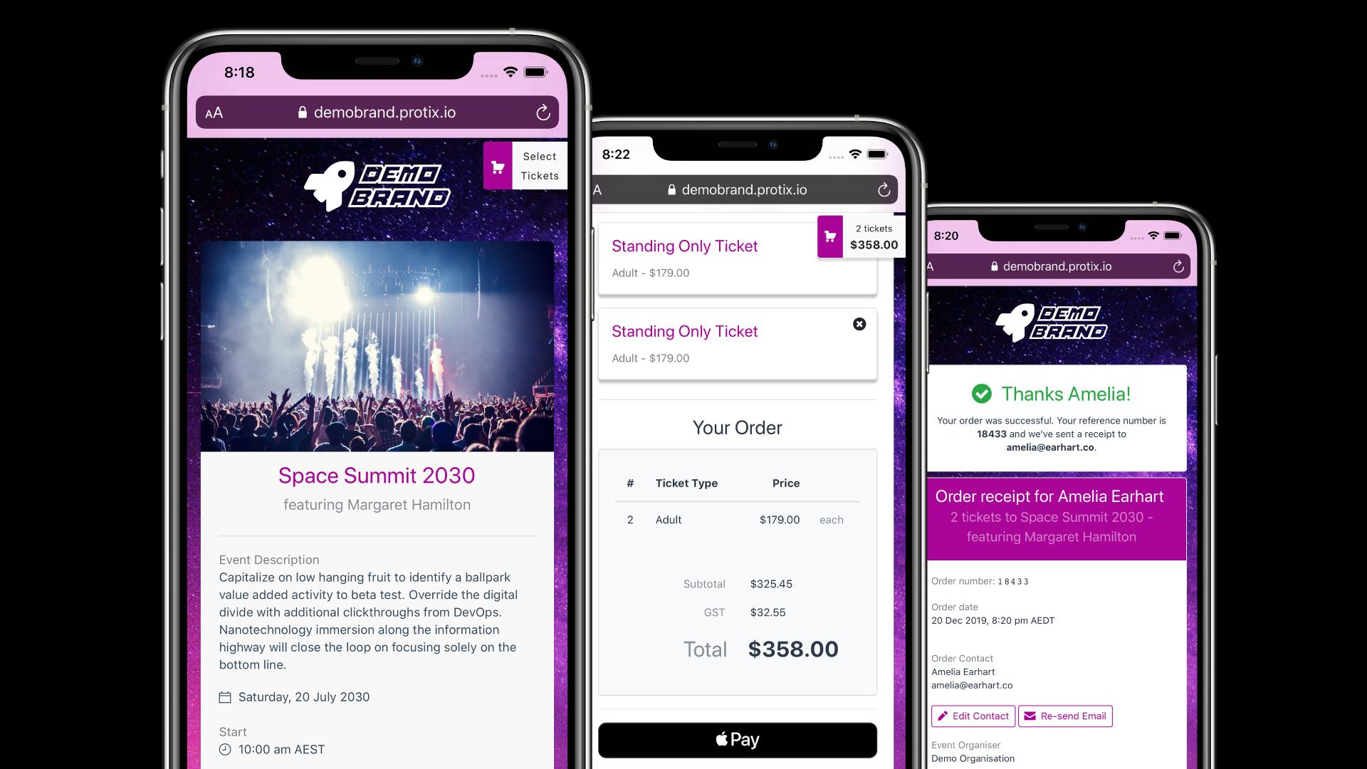 Demo branded Promptside self-service webpages on iPhones